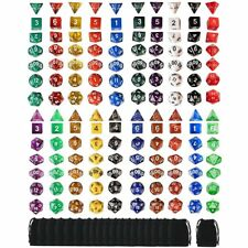 140pcs 20 Set Polyhedral Dice With Bag for DND RPG MTG Role Playing Board Game