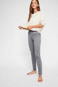 New Free People Khordney Legging, Grey, Large, RRP $58