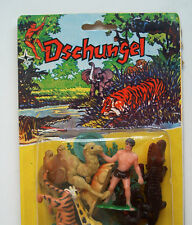 Tarzan Dschungel Set 1970s Eurasia Toys in orig. Blister OVP