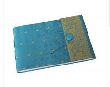 Brand New Paper High Dry Mount Turquoise Sari Photo Album White Pages