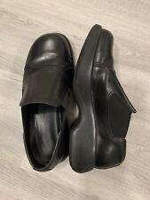 Dansko Clogs Mules Slip-on Black Leather Women's Size EU 38