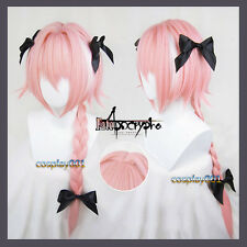 FGO Fate Apocrypha Astolfo Wig Pink And White Hair Long Braid Cosplay Wig