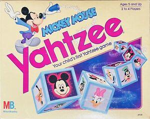 Vintage Walt Disney Mickey Mouse Yahtzee Milton Bradley Complete 1988