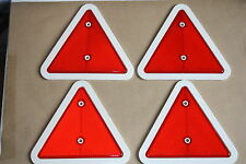 16 x Reflector Set Red Triangles /& 75mm x 46mm Self Adhesive Oblong Amber Clear