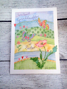 Easter Card GRANDDAUGHTER Butterfly Marian Heath Greeting Card