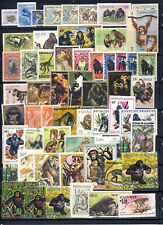 Primates on Stamps mnh,mlh,used CTO on 3 pages