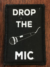 Mic Drop Morale Patch Tactical ARMY Hook Military Badge Flag USA Hook