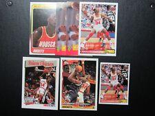 Hakeem Olajuwan-Houston Rockets-NBA--NM 7 card lot
