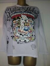 Shiroi Neko L/S/T shirt  Minute Mirth Grafic Tattoo Punk Goth Emo BNWT Size M