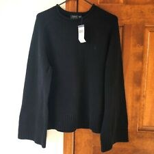 Polo Ralph Lauren Womens Roll Neck Dolman Sweater Size XL Black Cotton NWT