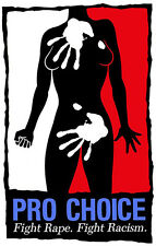 Pro Choice Poster, Fight Rape, Fight Racism, Freedom, Equality