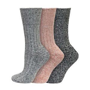 Ladies 3/6 Pairs Soft Acrylic SHORT Thermal Boot Socks UK 4-8 EU 37-42  PASTELS