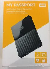 Western Digital My Passport 3TB External Hard Drive - Black
