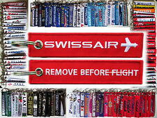 Keyring SWISSAIR 1970s Logo Remove Before Flight tag keychain