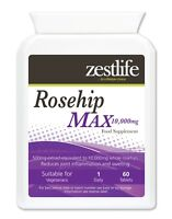 Zestlife Rosehip MAX 10,000mg 60 tablets an antioxidant for joints & bone health