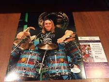 NICKO MCBRAIN IRON MAIDEN DRUMMER RARE JSA SIGNED 8X10 PHOTO COA