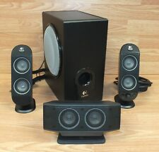 Logitech (X-530) Multimedia Black Surround Speaker System With Subwoofer *READ*