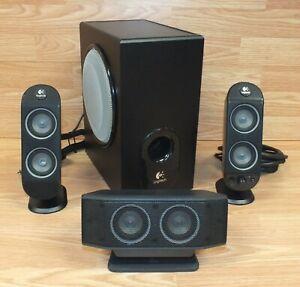 Logitech (X-530) Multimedia Black Speaker System With Subwoofer *READ - ALL*