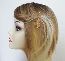 Fab Mini Concorde Beak Clip Gold Champagne Crystal Grip Hair Jewellery SMALL