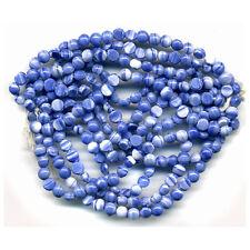 Vintage 5mm Nailhead Beads Opaque Blue & White Blend Glass 300 Pcs. Full Hank