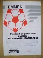 1995 EMMEN v FC NATIONAL BOEKAREST