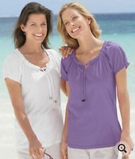 Damart 2 pack of gypsy tops white and lilac sz10/12 BNWT (45)