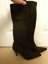 LK Bennett Brown Soft Stretch Suede Knee High Boots Great Condition UK 5
