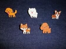 Set of 5 Assorted Dog Pin Lot Tie Tack Enameled Dog Pins *USA Seller Free Ship*