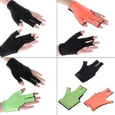 Lycra Fabric Snooker Billiard Cue 3 Finger Gloves Pool Left Hand Open Accessory