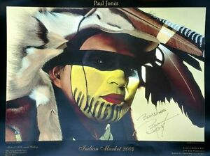 """Paul Jones """"Giving Voice To Bear Native American Poster18x24 New Signed by Jones"""