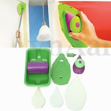 Paint Pads Point Painting Roller Tray 4 Sponge Set Brush Home Wall Decor Tool