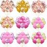 "10X 12"" Latex Pearlised Rose Gold Confetti Balloon Birthday Party Wedding Decor"