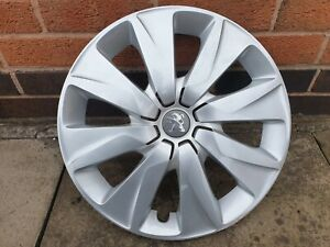 "Single Peugeot 108 15"" Wheel Trim Hub Cap x1 Genuine Used Part"