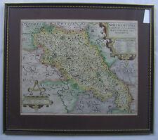 Northamptonshire: original antique map by Saxton & Kip, 1610