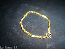 CUSTOM MADE 24KT GOLD LINK BRACELET 13 gms+ VINTAGE