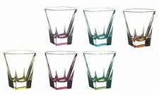 RCR Fusion Crystal Multicolor 8oz Double Old Fashion Set of 6 made in Italy