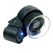 Mini 45X  Lighted Jewelers Loupe / Magnifier with LED & Fluorescence Lights