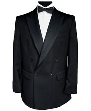 "Finest Barathea Wool Double Breasted Dinner Jacket 46"" Long"