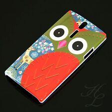 Sony Ericsson LT26i Xperia S Hard Case Hülle Eule Rot Etui Cover Owl Hibou