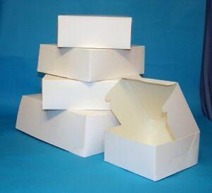 """100 SMALL WHITE CAKE GIFT BOXES 6x6x2.5"""""""