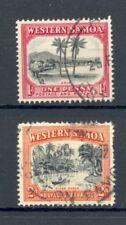Western Samoa, 1935, 1d Apia SG 181, FU, 2d River Scene SG 182, GU