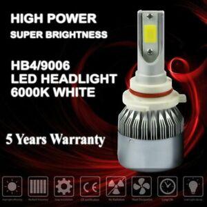 1 piece 9006 HB4 COB LED headlights bulbs hi/lo beam conversion kit 6000k white