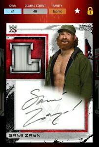 WWE Topps Slam Digital Fully Loaded Series 2 iconic Sami Zayn (Ladder)