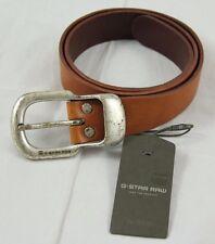 BNWT G-Star Raw 3301 Genuine Brown Leather Belt Solid Metal Buckle sz M