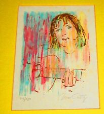 """ORIGINAL WILLIAM COTY LITHOGRAPH """"GIRL WITH GUITAR"""". SIGNED & NUMBERED, W/ FRAME"""