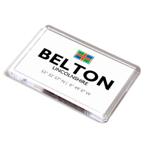 FRIDGE MAGNET - Belton, Lincolnshire - Lat/Long SE7806