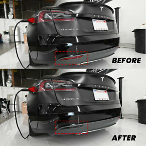 SMOKED 12-19 TESLA MODEL S REAR REFLECTOR TINT OVERLAYS