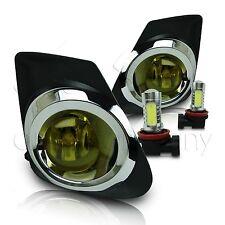2011-2013 Toyota Corolla Fog Lamps w/Wiring Kit & COB LED Bulbs - Yellow