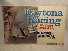 Vtg. Daytona Beach FL News-Journal Newspaper Poster Photo of Richard Petty Flip