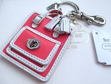 NWT Coach Barbie Doll Size Legacy Handbag Bag Key Fob Chain Keychain Charm 63836